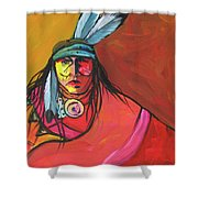 Yellow Face Shower Curtain