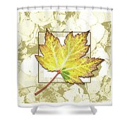 Yellow Fall Shower Curtain