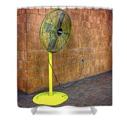 Yellow Fan Shower Curtain