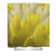 Yellow Feather Shower Curtain