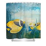 Yellow Fish Yellow Fish Shower Curtain