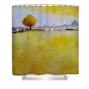Yellow Flamboyant Near The River Shower Curtain