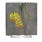 Yellow Flower Art Shower Curtain