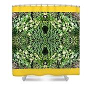 Yellow Flower Mandala 1 Shower Curtain