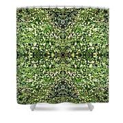 Yellow Flower Mandala 2 Shower Curtain