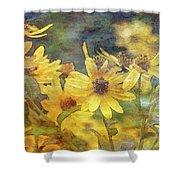 Yellow Flower View 4851 Idp_2 Shower Curtain