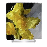 Yellow Glad 092217 1a Shower Curtain
