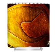 Yellow Glass Abstract Shower Curtain
