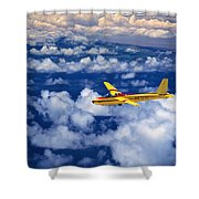 Yellow Glider Shower Curtain
