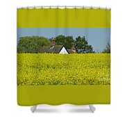 Yellow Gold Shower Curtain