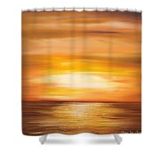 Yellow Gold Sunset Shower Curtain