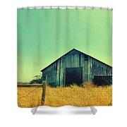 Yellow Grass Shower Curtain