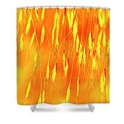 Yellow Grass Spikes Shower Curtain