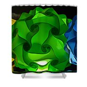Yellow Green And Blue Shower Curtain