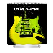 Yellow Guitar Full Time Occupation Shower Curtain