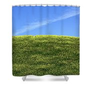Yellow Hill Shower Curtain