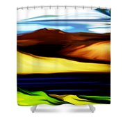 Yellow Hills Shower Curtain