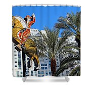 Yellow Horse Shower Curtain