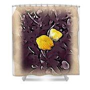 Yellow In Purple Shower Curtain