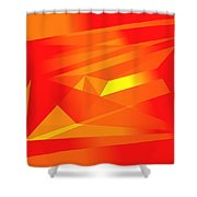 Yellow In Red Shower Curtain