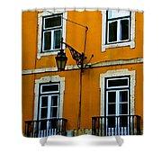 Yellow Italian Building Shower Curtain