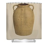 Yellow Jar Shower Curtain