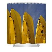 Yellow Kayaks Shower Curtain