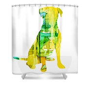 Yellow Lab Shower Curtain
