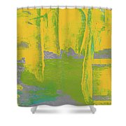 Yellow Ladders Shower Curtain