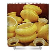 Yellow Lampshades Shower Curtain