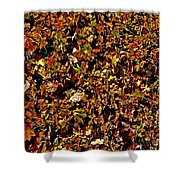 Yellow Leaves. Shower Curtain