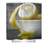 Yellow Lemons Shower Curtain