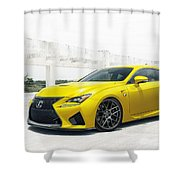 Yellow Lexus4 Shower Curtain