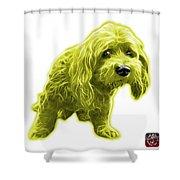 Yellow Lhasa Apso Pop Art - 5331 - Wb Shower Curtain