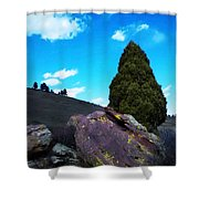 Yellow Lichen Shower Curtain
