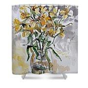 Yellow Lillies Shower Curtain