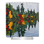 Yellow Maples Shower Curtain