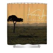 Yellow Mara Dawn Shower Curtain