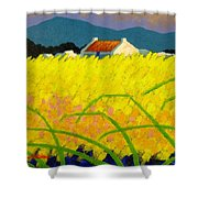 yellow Meadow Ireland Shower Curtain