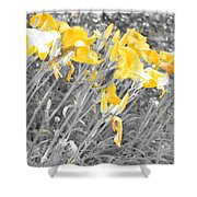 Yellow Moment In Time Shower Curtain