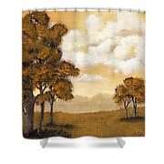 Yellow Mood Shower Curtain
