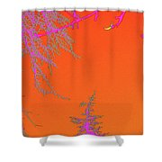 Yellow Moon Shower Curtain