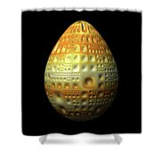 Yellow Nubbled Egg Shower Curtain