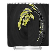 Yellow On Gray 2 Shower Curtain