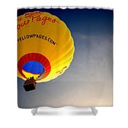 Yellow Pages Balloon Shower Curtain