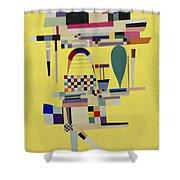 Yellow Painting Shower Curtain