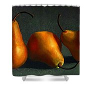 Yellow Pears Shower Curtain