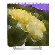 Yellow Pitch Shower Curtain