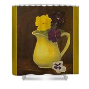 Yellow Pitcher 2 Shower Curtain