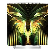 Yellow Plumes Shower Curtain